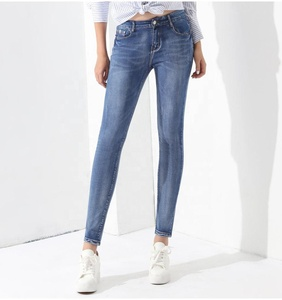 Stretch Jeans Female Denim Pants Slim Pencil Pants Blue Jeans Ladies Pantalon Femme Elastic Mid Waist Clothing For Women GAREMAY