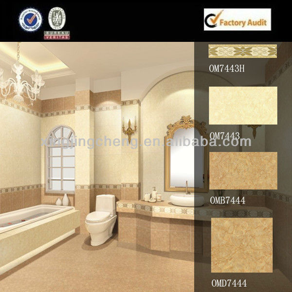 300x600mm glazed mother of pear bathroom tiles