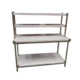 Industrial Heavy Duty Work Table/ Solid Metal Work Table/ Top Shelves Kitchen Work Table