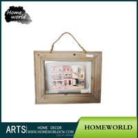 Small modern wooden wall mounted painting picture frame