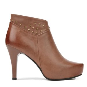 High quality waterproof platform high heel ankle boots brown women shoes boots