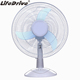 Factory Sale 10W Table fan 16 Inch Solar Powered DC Fan 12V Desk Fan DC brushless cooling ventilation for home