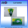 2014 brazil Word cup fan cheap Printing paper clap banner