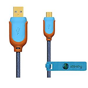 IMKEY® Premium 10FT Extra Long Gold-Plated Micro USB 2.0 Sync Data Charging Cord Cable For Samsung Galaxy Tab 3 7.0/ 8.0/ 10.1,Samsung Galaxy Tab 4 7.0/ 8.0/ 10.1 , Pro 8.4/ 10.1/ Note 10.1 2014 Edition