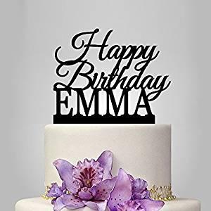 Magnificent Buy Custom Name Happy Birthday Cake Topper Personalized Birthday Personalised Birthday Cards Veneteletsinfo