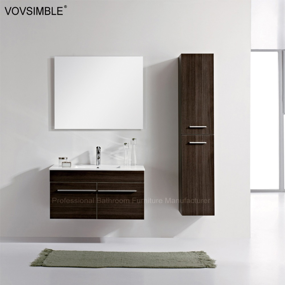 Western Tall Mirror Bathroom Cabinet Waterproof Vanity