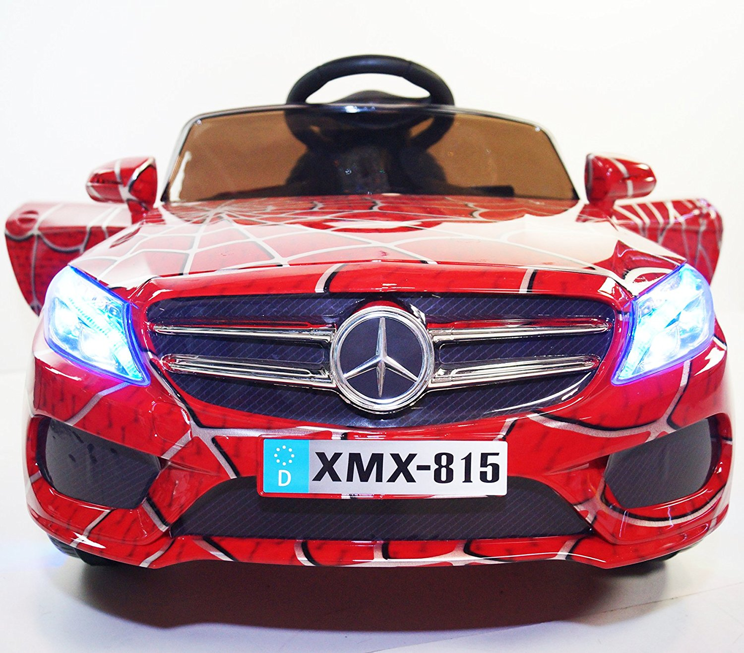 Ride on car MERCEDES licensed. Spiderman car. Car on electric battery, total 12V. Two Electric motor. 2 speeds. MP3. With remote control. R/C. Battery operated. For kids from 2 to 5 years.