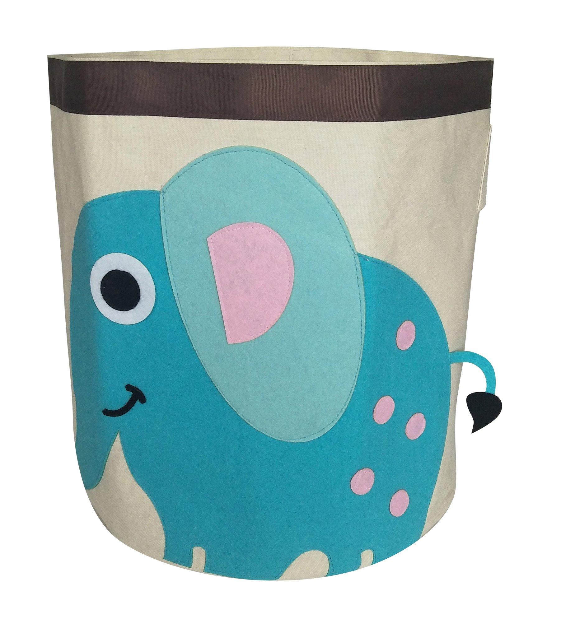 Get Quotations · Large Storage Bin,Cartoon Theme Storage Basket  Cute Toy  Organizer  Collapsible Laundry Hamper