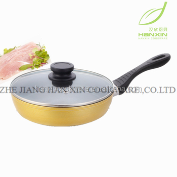 hi-quality Forged Golden Non Stick Fry Pan with Induction Bottom