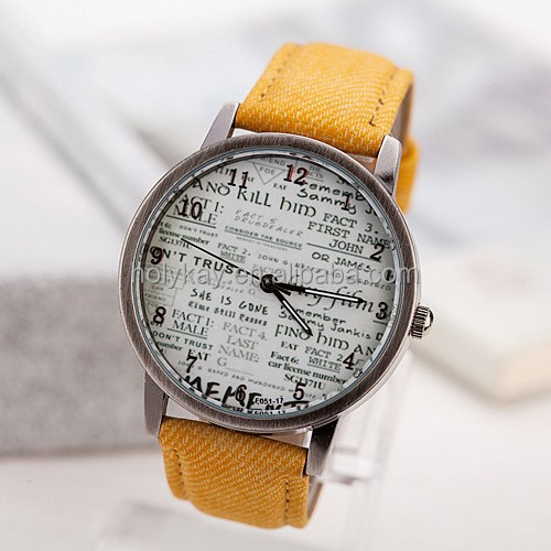 NEW style Design geneva watch, orange elegant unisex fashion geneva watch