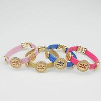 shinny diamond love bangle color pu leather cuff bracelet imitation jewelry the christmas gift