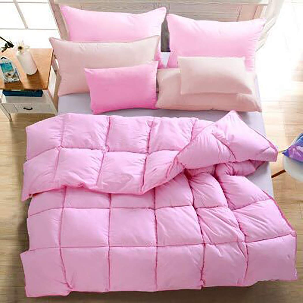 Ggbz Beding Duvet Exquisite Edging, Piping Design, Not Easy to Wear, DurableThe Fabric is Soft and Not Noisy, and Sleeps Peacefully All Night (Color : Pink, Design : 200230cm3kg)