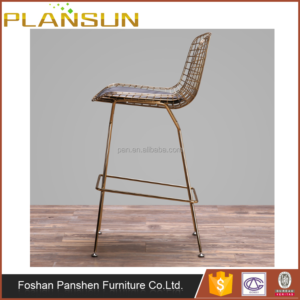 Modern classic design Chrome Rose gold finish Bertoia Bar Stool