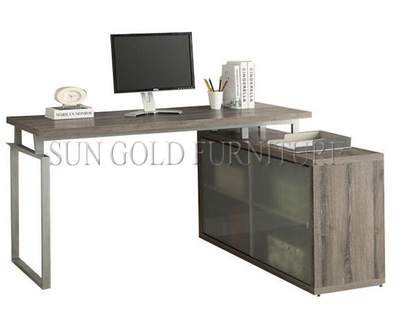 Estilo Ikea Modern Soho escritorio de oficina de esquina con gabinete (  SZ-OD465 )