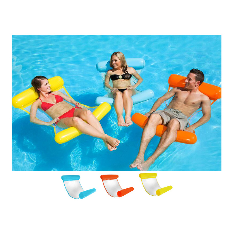 Water Lounger Hammock Pool Float Inflatable Rafts Swimming ...