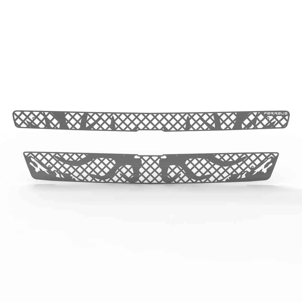 Deer Antler Hunting Brushed Stainless Grille Insert Trim fits: 07-14 Chevy Suburban Tahoe 07-13 Avalanche - Ferreus Industries - TRK-100-11-Brushed