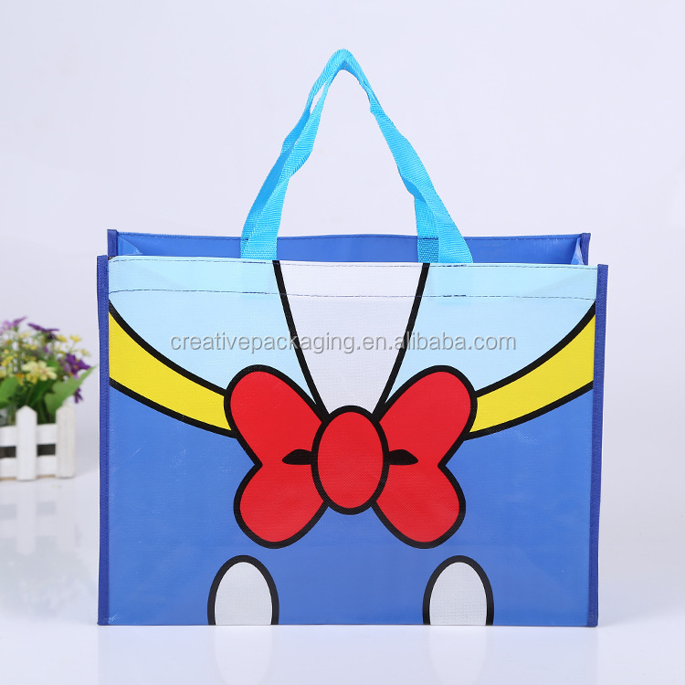 Wholesale <strong>pp</strong> non woven laminated tote bag printed