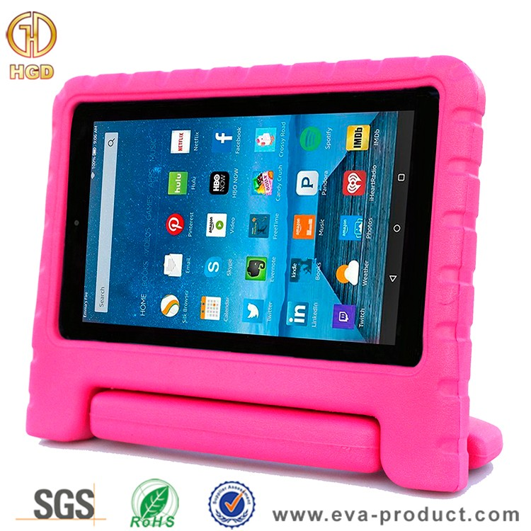 Kids friendly convertibel handle stand case for amazon kindle fire hd 7 2015 tablet case