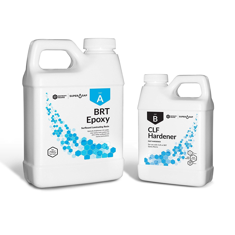Entropy Resins Super Sap BRT Epoxy Resin & Hardener 48 oz. Kit (FAST) Professional Grade Surfboard Epoxy