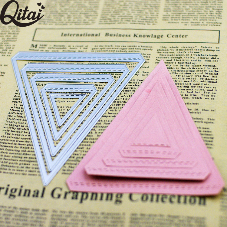 newer 5 pieces trilateral die cutting scrapbooking craft dies diy