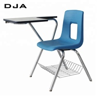 10 year warranty Navy Student plastic student desk chair combo school chair with writing desk School Furniture