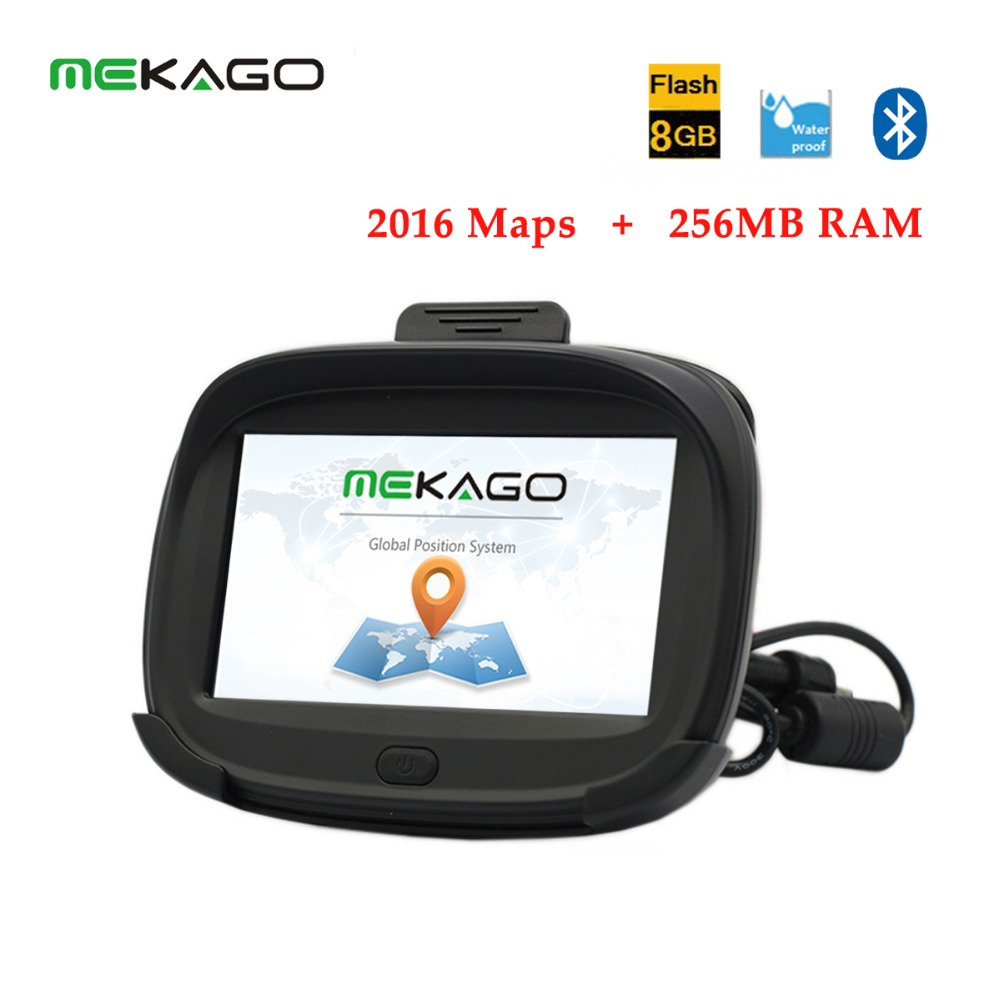 2016 Newest 4 3 inch 256MB RAM Motorcycle Car Bicycle GPS Navigation Waterproof IPX7 8GB Internal