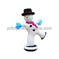 2019 funny inflatable snow man, PVC snow man toy, Inflatable snowman