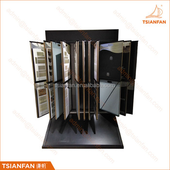 CF115--Turn page ceramic tile display cabinet