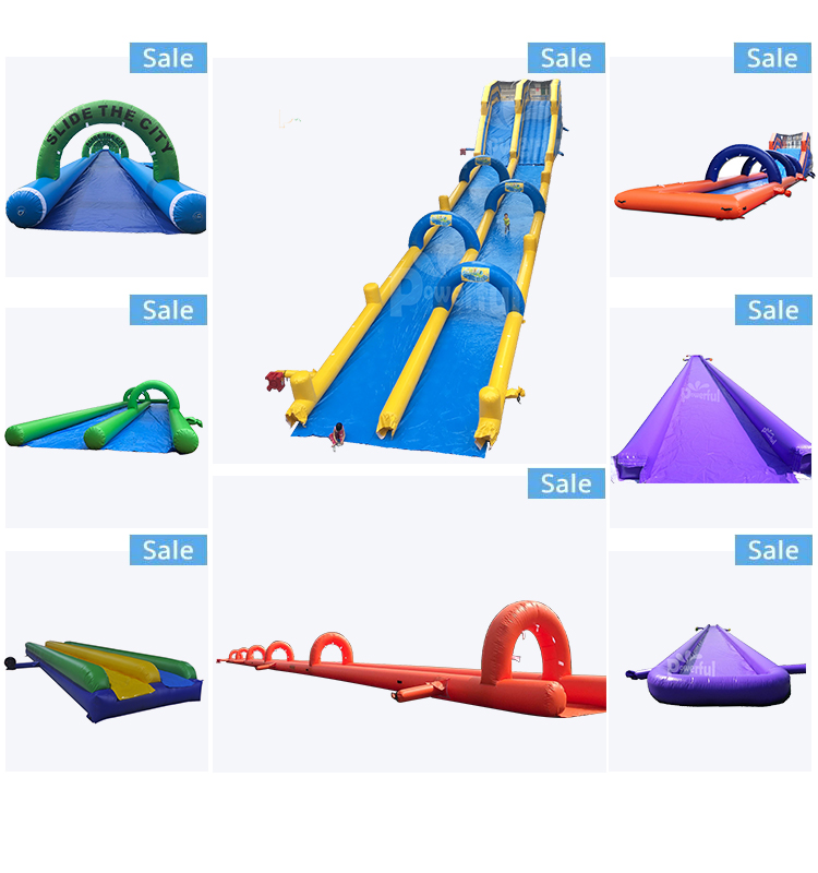 20m/50m/100m long giant inflatable  water slide,  lawn slip n slide for summer party