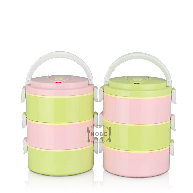 Customized Color 1/2/3 Layer 304 stainless steel bento lunch box keep food warm