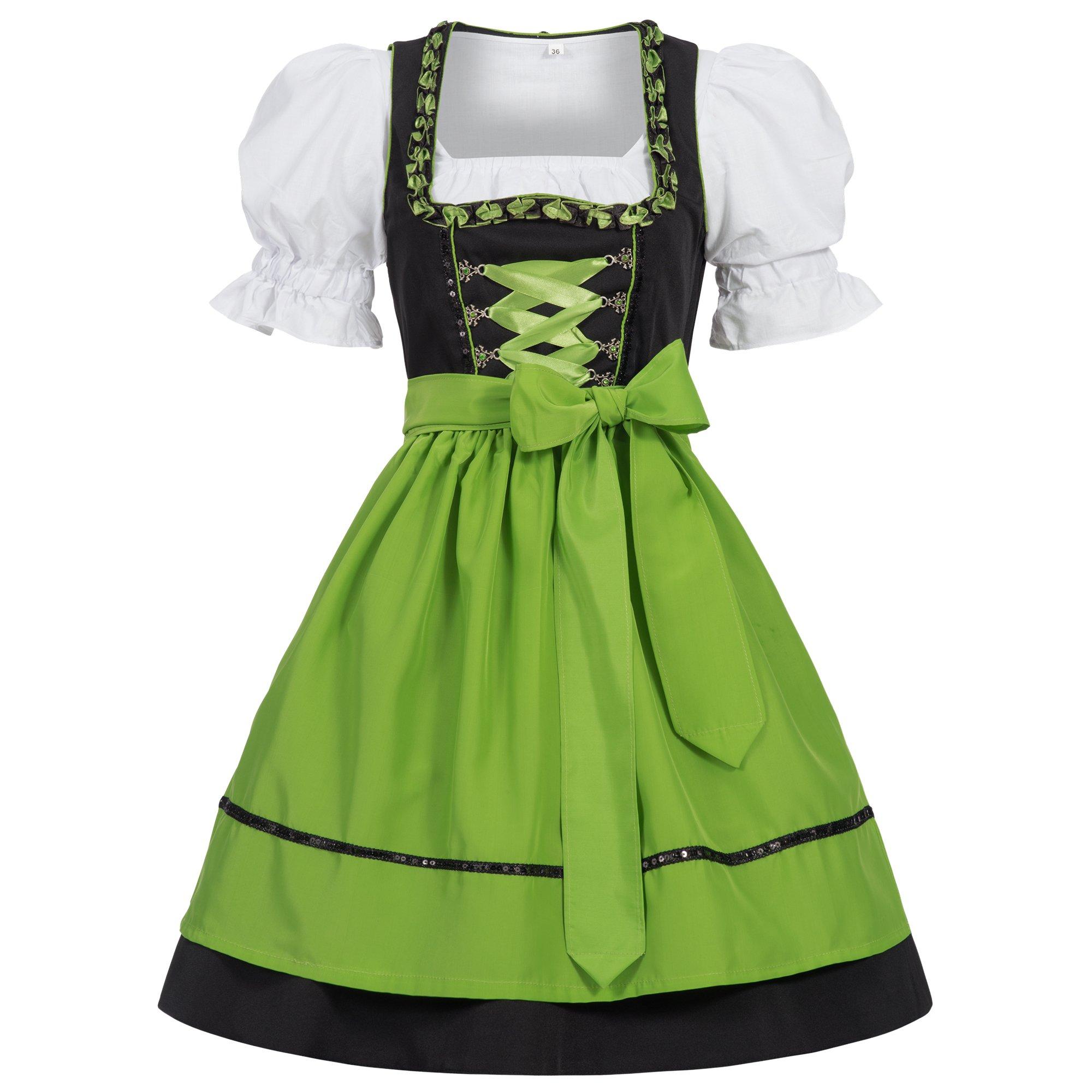 685f9ae3ecad4 Get Quotations · Women s German Dirndl Dress Costumes for Bavarian  Oktoberfest Carnival Halloween