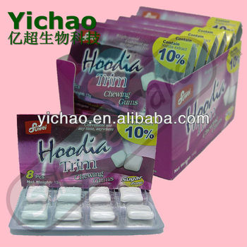 1.5g*8pcs Slimming Xylitol Hoodia Sugar Free Chewing Gum ...