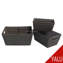 Handmade Woven Plastic Fruit And Vegetable Storage Basket Bread Basket H-16096