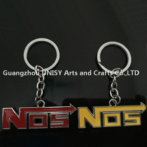 Hot sale Anodised NOS Turbo Keychain Mini Nitrous Oxide Bottle Keyring Key Chain Ring wholesale