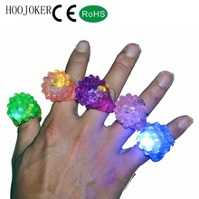 Party blinking finger led ring flashing light RGB Jelly led Ring For Bumpy