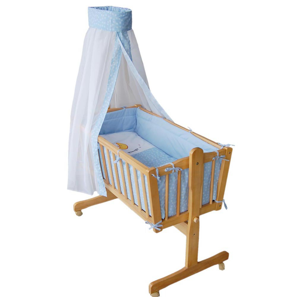 Baby Cradle Wooden Swing Bed 24bffb349