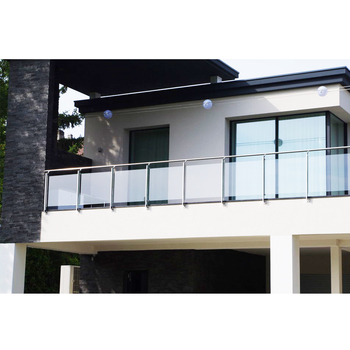 Metal Modern Design Balcony Glass Railing