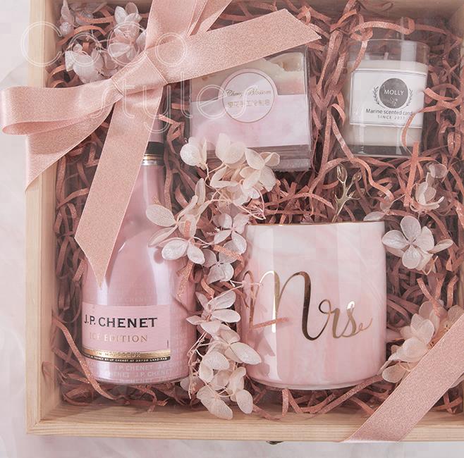 Cocostyle diy ins super luxury fashion bling bling gift box with mug men women gift set christmas valentinegift birthday present