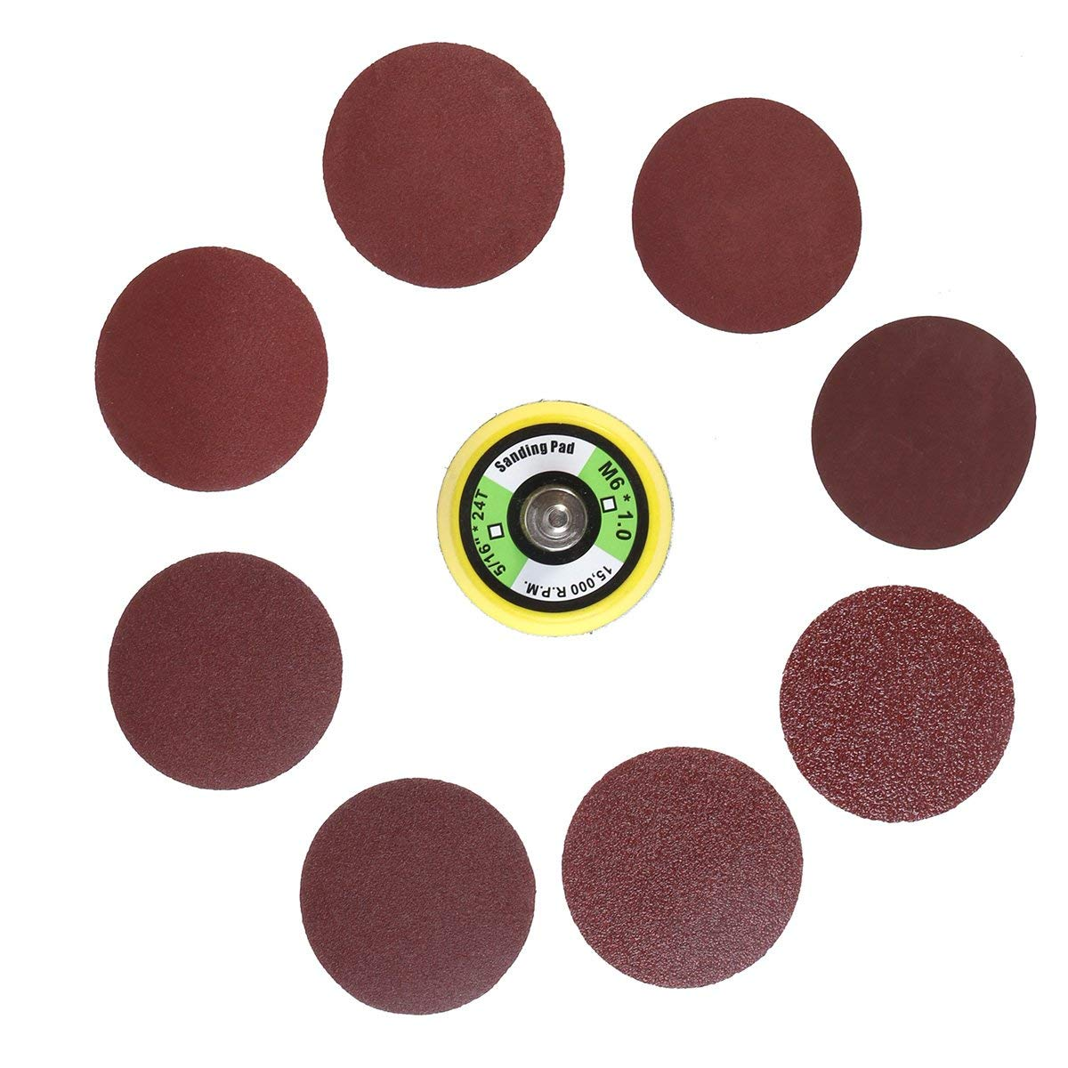 Hook//Loop Sanding Abrasive Discs Orbital DA Palm Sander 100PK 150mm Mixed Grit