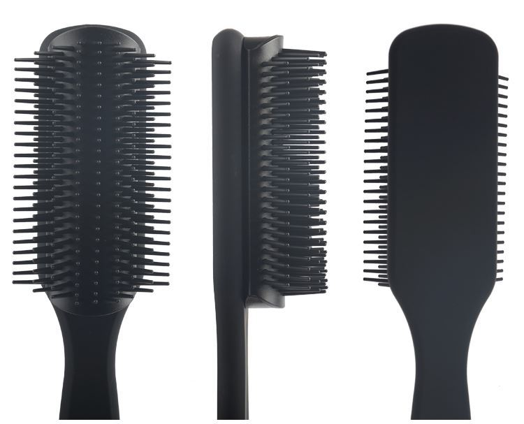 Supply cheap pop detangling hair brush black plastic handle hair brush