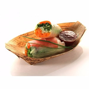 Bamboo craft Biodegradable palm plates areca leaf plates buyers