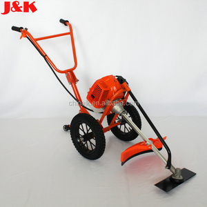 Hand push type with tyre brush cutter Wheat Harvester 52cc mini rice harvester/brush cutter