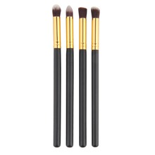 4 pçs/set Professional Eye brushes set Fundação eyeshadow Blending Pencil ferramenta pincel Maquiagem Cosméticos Rímel Preto Populares