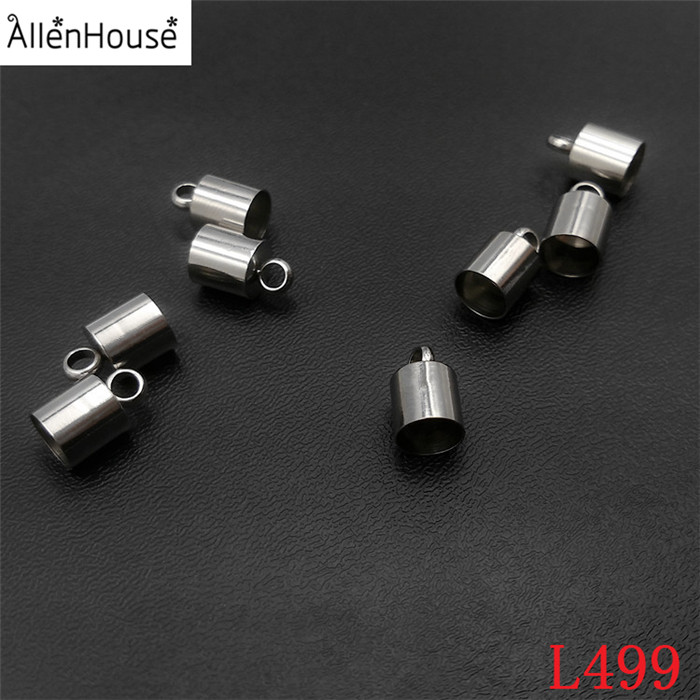 2.0mm/2.5mm/3.0mm Stainless Steel End Cap Bead Supplies Findings Mesh Cord Barrel Clasp for sale