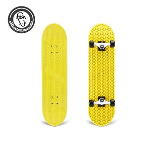 Beautifully designed selling hot dipped four wheel Plastic Longboard complete skateboards