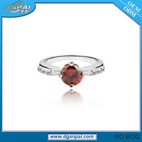 2016 simple design fashion platinum 1 gram gold silver bloodstone wedding ring for women
