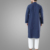 New Arrival Fashion Muslim Men's Embroidered Kurta Long Sleeve New Style Navy Blue Dubai Thobe For Men