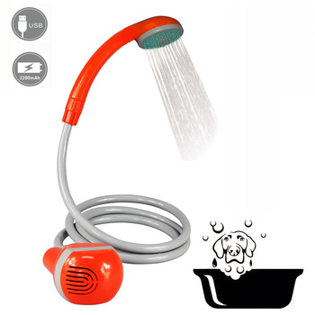 Handheld Electric Pet & Dog Grooming Self Cleaning Shower with 2200mAh rechargeable battery