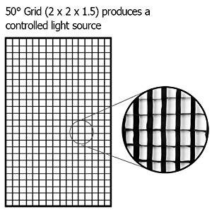 """Fotodiox Pro, 32x48"""" Eggcrate Grid, fits Fotodiox Pro 32x48"""" Softbox -- 50 degree grid (each grid size: 2""""(w)x2(l)""""x1.5""""(h))"""