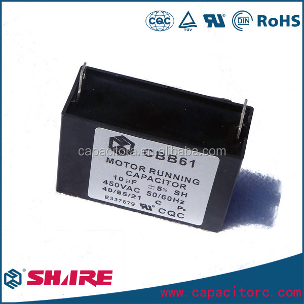 50/60hz Stable cbb61 250vac 40uf sh capacitor CE listed
